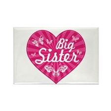 Big Sister Butterfly Heart Rectangle Magnet