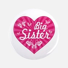 "Big Sister Butterfly Heart 3.5"" Button"