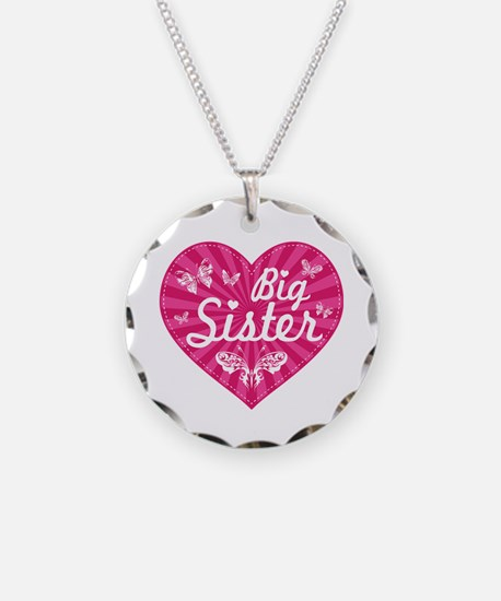 Big Sister Butterfly Heart Necklace