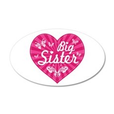 Big Sister Butterfly Heart Wall Decal