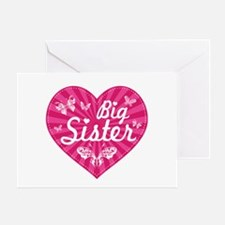 Big Sister Butterfly Heart Greeting Card