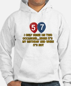57 year old birthday designs Hoodie