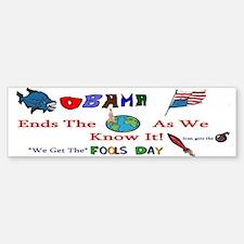 Obama and Iran Bumper Bumper Bumper Sticker