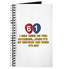 61 year old birthday designs Journal