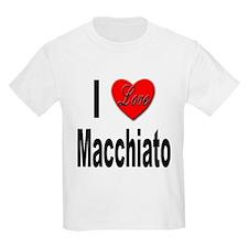 I Love Macchiato (Front) Kids T-Shirt