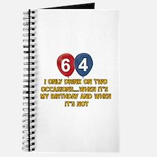 64 year old birthday designs Journal