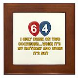 64th birthday Framed Tiles