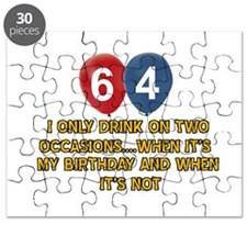 64 year old birthday designs Puzzle