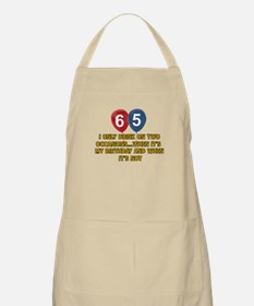 65 year old birthday designs Apron