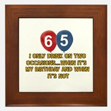 65 year old birthday designs Framed Tile