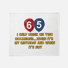 65 year old birthday designs Throw Blanket