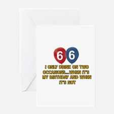 66 year old birthday designs Greeting Card