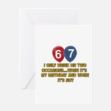 67 year old birthday designs Greeting Card