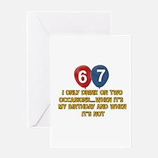 67 year old birthday designs Greeting Card