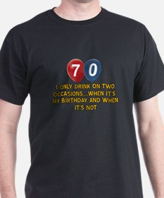 70 year old birthday designs T-Shirt