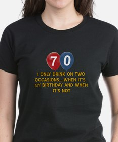 70 year old birthday designs Tee