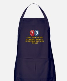 70 year old birthday designs Apron (dark)
