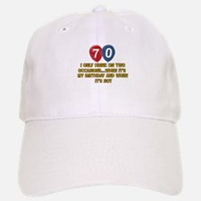 70 year old birthday designs Baseball Baseball Cap