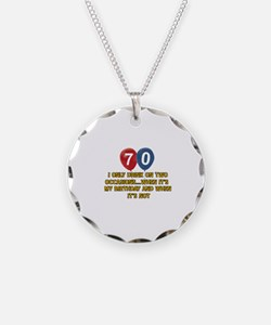 70 year old birthday designs Necklace Circle Charm