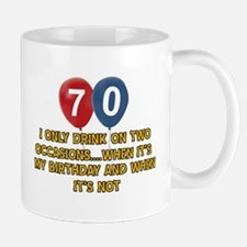 70 year old birthday designs Mug