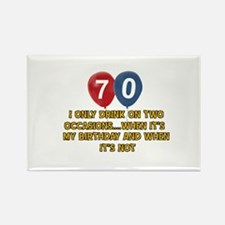 70 year old birthday designs Rectangle Magnet