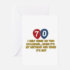 70 year old birthday designs Greeting Card