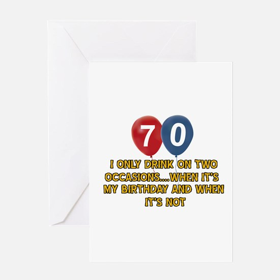 70 year old birthday designs Greeting Card
