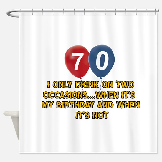 70 year old birthday designs Shower Curtain