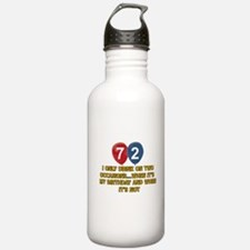 72 year old birthday designs Water Bottle