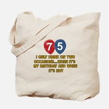75 year old birthday designs Tote Bag