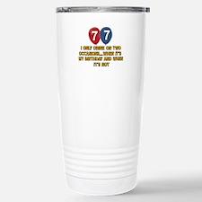 77 year old birthday designs Travel Mug