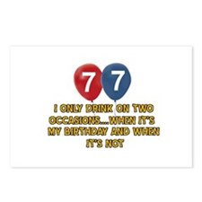 77 year old birthday designs Postcards (Package of