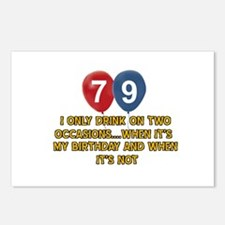 79 year old birthday designs Postcards (Package of