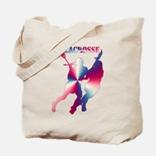 Lacrosse Red White and Blue Tote Bag