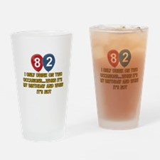 82 year old birthday designs Drinking Glass