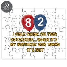 82 year old birthday designs Puzzle