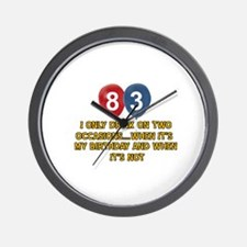 83 year old birthday designs Wall Clock