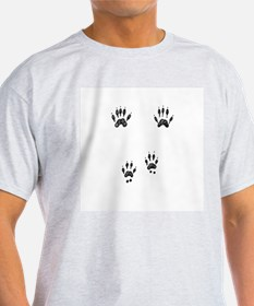Gray Squirrel Tracks Ash Grey T-Shirt