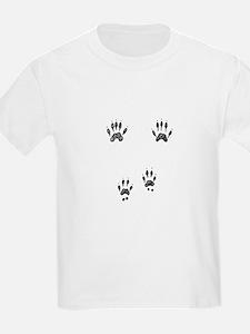 Gray Squirrel Tracks Kids T-Shirt