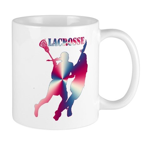 Lacrosse Red White and Blue Mug