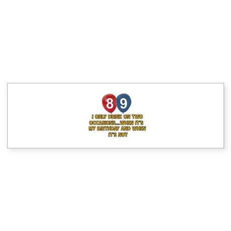 89 year old birthday designs Sticker (Bumper)