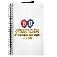 90 year old birthday designs Journal