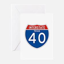 Interstate 40 - TX Greeting Cards (Pk of 10)