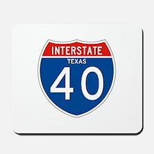 Interstate 40 - TX Mousepad