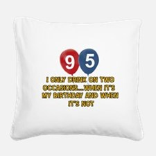 95 year old birthday designs Square Canvas Pillow