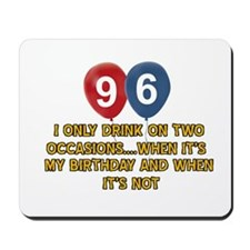 96 year old birthday designs Mousepad