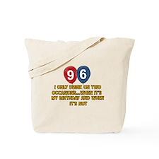 96 year old birthday designs Tote Bag