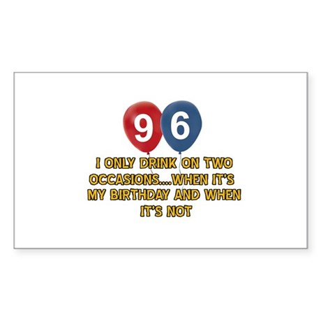 96 year old birthday designs Sticker (Rectangle)