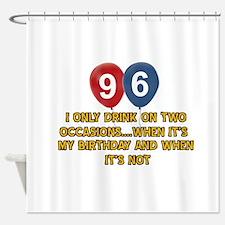 96 year old birthday designs Shower Curtain