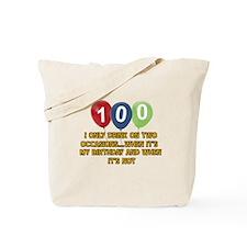 100 year old birthday designs Tote Bag